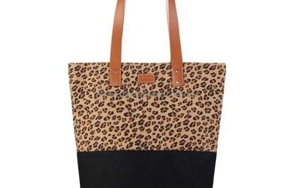 Чанта с тигров принт Toffee Shopper Leo, за лаптоп, таблет и лични вещи