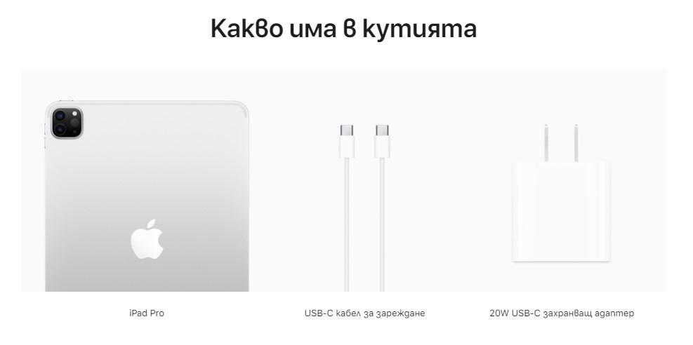 какво има в кутията ipad